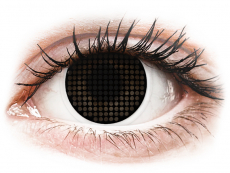 Kontaktní čočky Maxvue Vision - ColourVUE Crazy Lens - Black Screen - nedioptrické (2čočky)