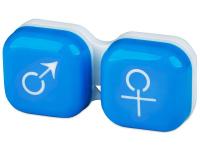 Pouzdro na čočky muž a žena - modré