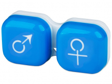 Pouzdra a kazetky - Pouzdro na čočky muž a žena - modré