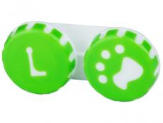 Pouzdra a kazetky - Pouzdro na čočky Tlapka - zelené