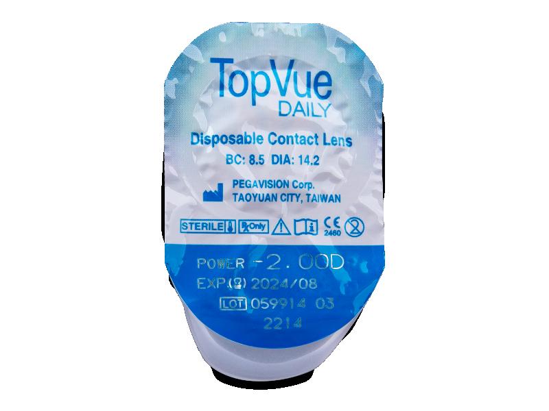 TopVue Daily (10 čoček) - Vzhled blistru s čočkou