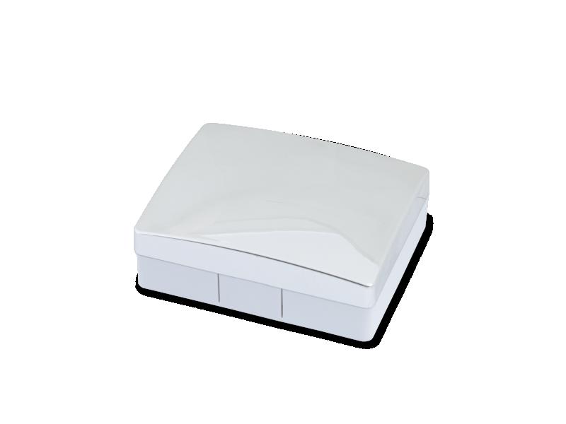Elegantní kazetka - stříbrná