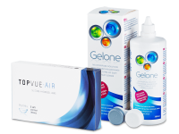 TopVue Air (6 čoček) + roztok Gelone 360 ml