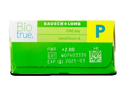 Biotrue ONEday for Presbyopia (30čoček) - Náhled parametrů čoček