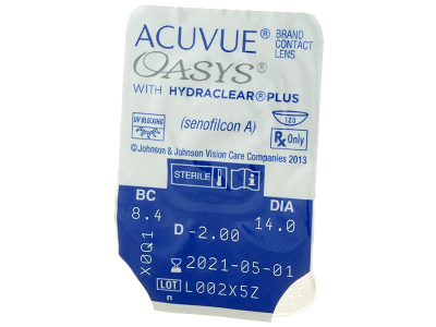 Acuvue Oasys (12čoček) - Vzhled blistru s čočkou