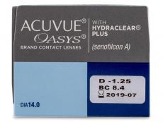 Acuvue Oasys (24 čoček) - Náhled parametrů čoček