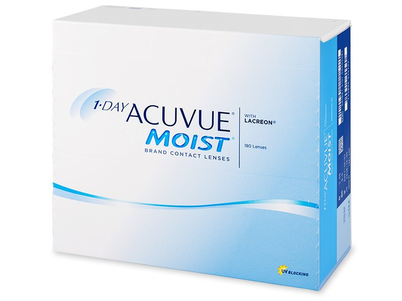 Jednodenní kontaktní čočky - 1 Day Acuvue Moist (180čoček)