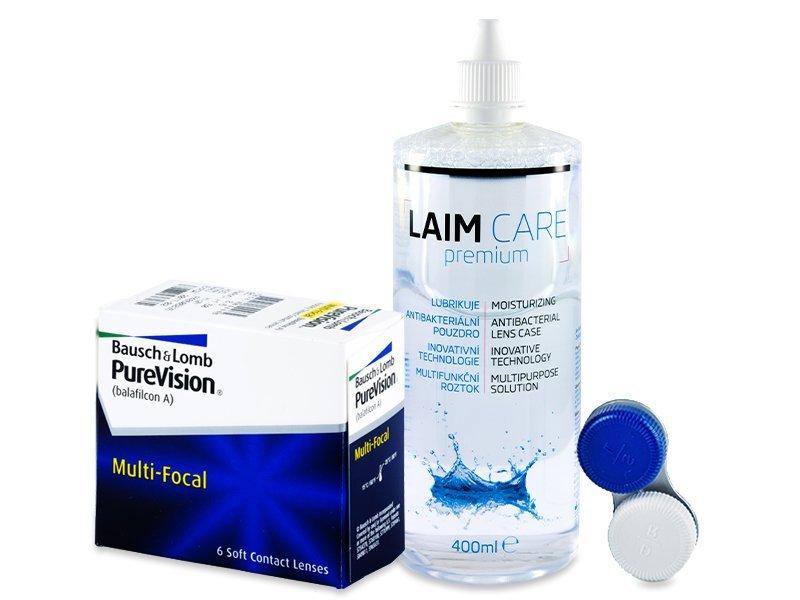 PureVision Multi-Focal (6 čoček) + roztok Laim Care 400 ml - Výhodný balíček