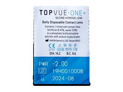 TopVue One+ (30 čoček) - Vzhled blistru s čočkou