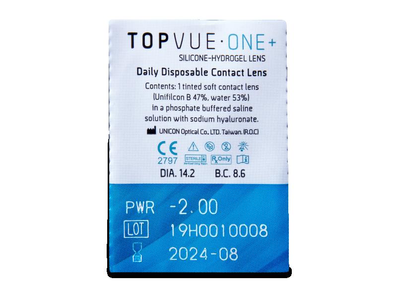 TopVue One+ (90 čoček) - Vzhled blistru s čočkou
