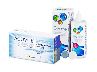Acuvue Oasys for Astigmatism (12 čoček) + roztok Gelone 360 ml