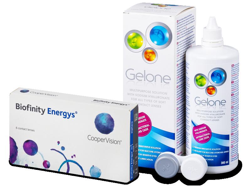 Biofinity Energys (6 čoček) + roztok Gelone 360 ml