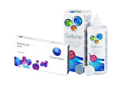 Biofinity XR Toric (3 čočky) + roztok Gelone 360 ml
