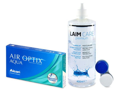 Air Optix Aqua (6 čoček) + Laim Care 400ml