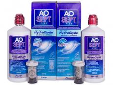 Roztoky na kontaktní čočky - čistící a dezinfekční oční roztoky - Roztok AO SEPT PLUS HydraGlyde 2 x 360ml