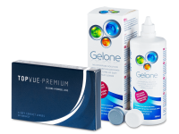 TopVue Premium (6 čoček) + roztok Gelone 360 ml