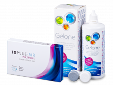 TopVue Air Multifocal (3čočky) +roztok Gelone 360ml