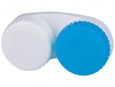 Pouzdra a kazetky - Pouzdro na čočky modro-bílé L+R