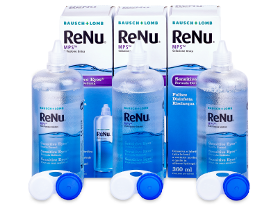 Roztok ReNu MPS Sensitive Eyes 3 x 360 ml