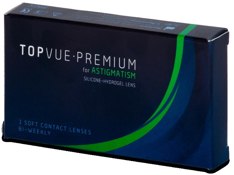 TopVue Premium for Astigmatism (3čočky) - Torické kontaktní čočky