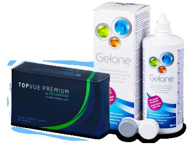 TopVue Premium for Astigmatism (6 čoček) + roztok Gelone 360 ml