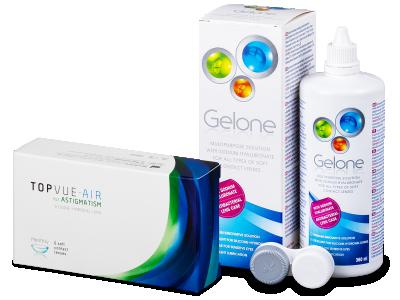 TopVue Air for Astigmatism (6čoček) + roztok Gelone 360 ml