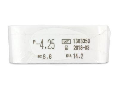 Miru 1 Day (30 čoček) - Náhled parametrů čoček