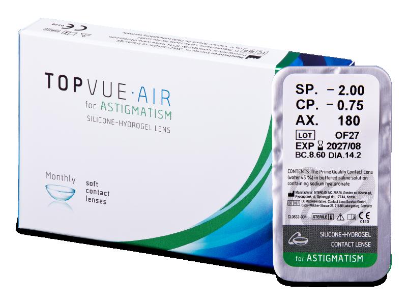 TopVue Air for Astigmatism (1čočka) - Torické kontaktní čočky