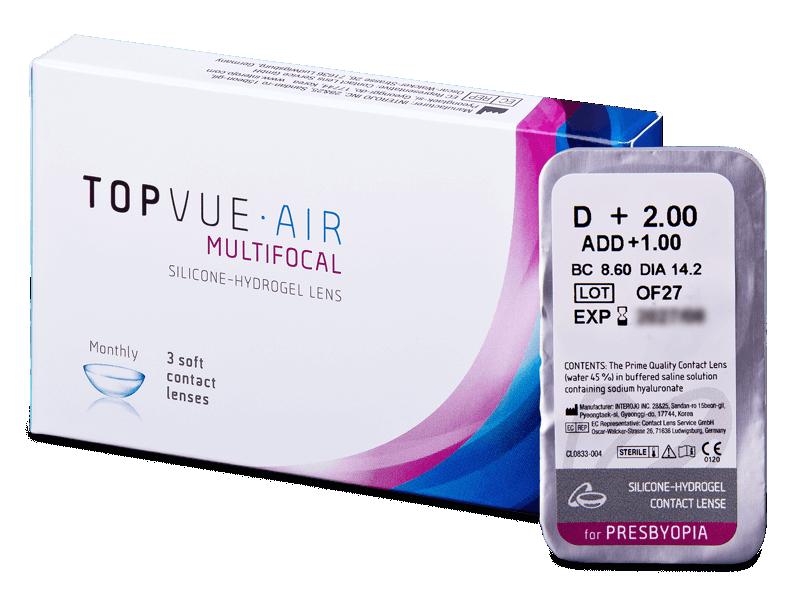 TopVue Air Multifocal (1čočka) - Multifokální kontaktní čočky