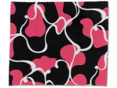 Aplikátory a kleštičky - Čistící hadřík na brýle - růžová a černá