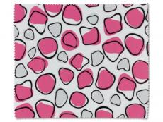 Aplikátory a kleštičky - Čistící hadřík na brýle - růžová a bílá