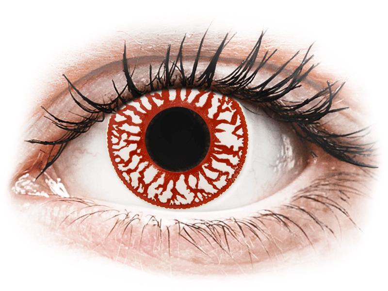 ColourVUE Crazy Lens - Blood Shot - nedioptrické jednodenní (2čočky) - Barevné kontaktní čočky