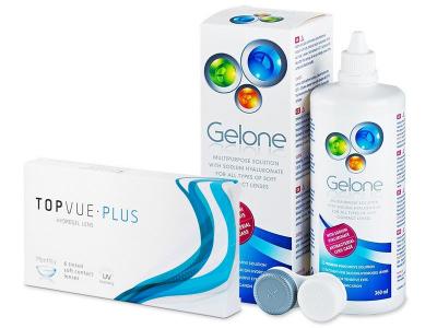 TopVue Plus (6 čoček) + roztok Gelone 360 ml - Výhodný balíček