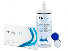 TopVue Plus (6 čoček) + roztok Laim Care 400 ml