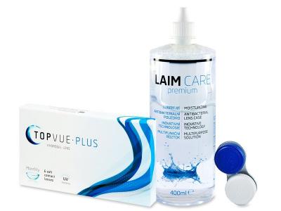 TopVue Plus (6 čoček) + roztok Laim Care 400 ml - Předchozí design