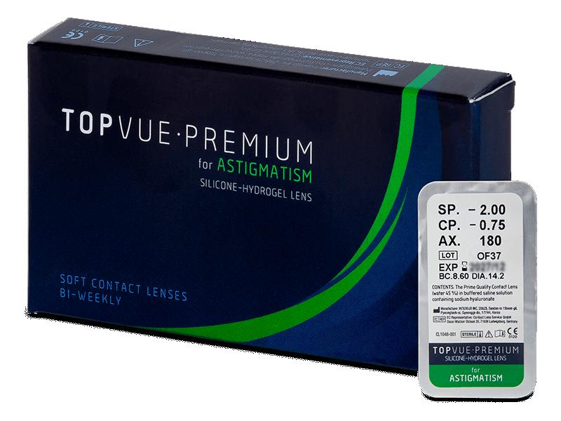 TopVue Premium for Astigmatism (1 čočka) - Torické kontaktní čočky