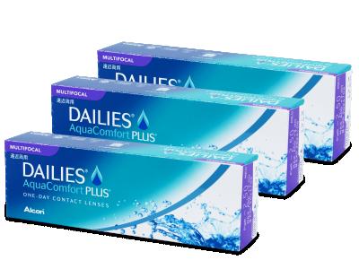 Dailies AquaComfort Plus Multifocal (90čoček) - Multifokální kontaktní čočky