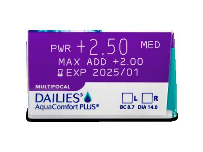 Dailies AquaComfort Plus Multifocal (90čoček) - Náhled parametrů čoček