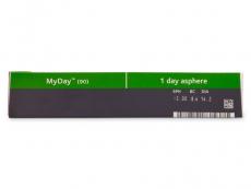 MyDay daily disposable (90čoček) - Náhled parametrů čoček