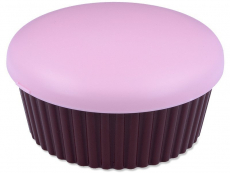 Pouzdra a kazetky - Kazetka se zrcátkem Muffin - růžová