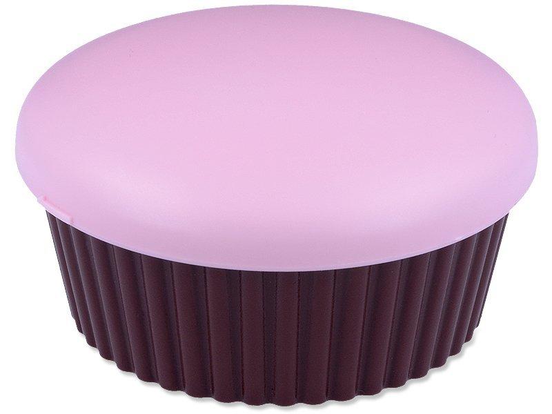Kazetka se zrcátkem Muffin - růžová  - Kazetka se zrcátkem Muffin - růžová