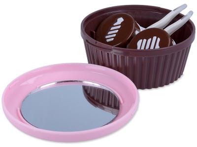 Kazetka se zrcátkem Muffin - růžová