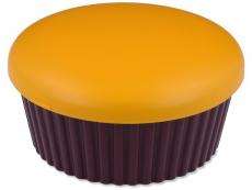 Pouzdra a kazetky - Kazetka se zrcátkem Muffin - oranžová