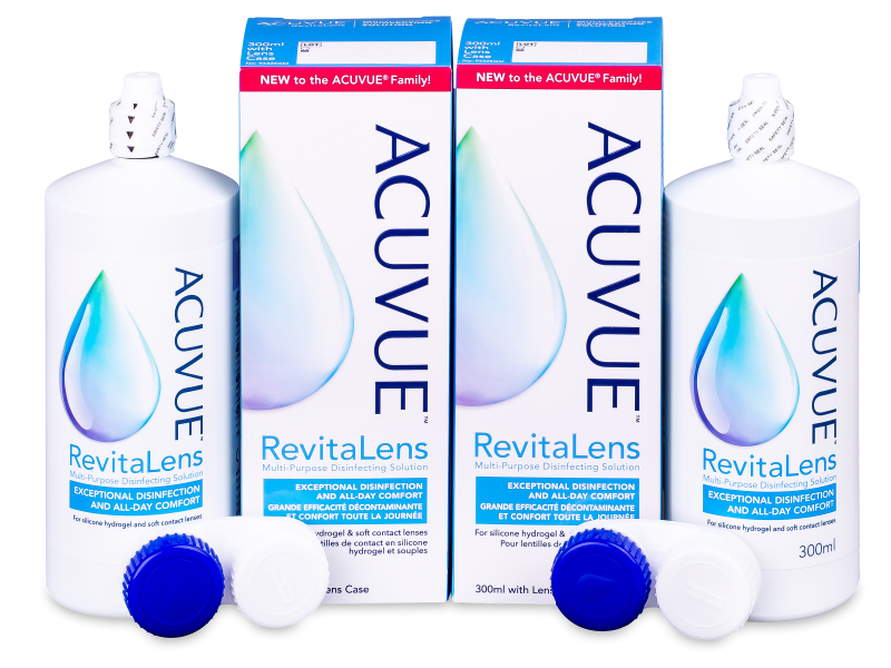 Roztok Acuvue RevitaLens 2x 300 ml  - Economy duo pack- solution