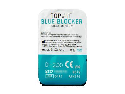 TopVue Blue Blocker (90 čoček) - Vzhled blistru s čočkou