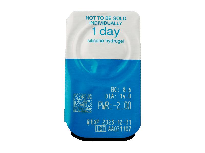 Live Daily Disposable (30 čoček) - Vzhled blistru s čočkou
