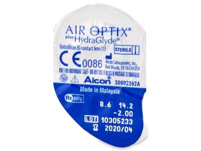 Air Optix plus HydraGlyde (3čočky) - Vzhled blistru s čočkou