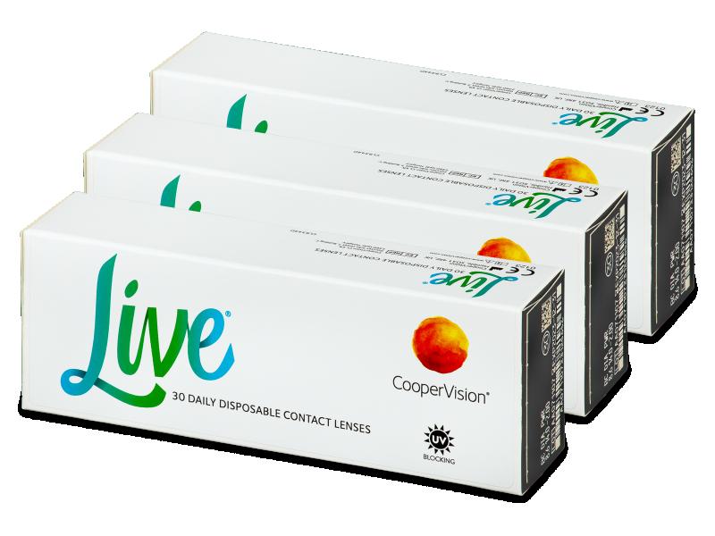 Live Daily Disposable (90 čoček) - Jednodenní kontaktní čočky