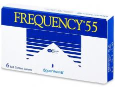 Měsíční levné kontaktní čočky - Frequency 55 (6čoček)