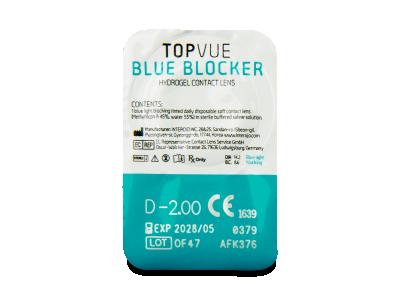 TopVue Blue Blocker (5 párů čoček) - Vzhled blistru s čočkou